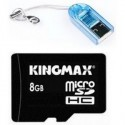Memorie flash card KINGMAX KM-Micro/CR-SD4/8G 8GB Secure Digital microSDHC Class 4 + adaptor USB card-reader