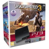 Consola Sony PlayStation 3 Slim 320GB Black + Joc UNCHARTED 3 – DRAKE'S DECEPTION (SO-9172895)