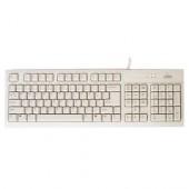 Tastatura BTC caractere US, PS/2 alba (5106-US)