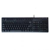 Tastatura BTC caractere US, PS/2 neagra (5107-US)
