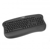 Tastatura comRace Multimedia, caractere US, PS/2, 8 hot keys, palmrest ergonomic (5213M-EN-PS2)