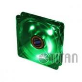Ventilator carcasa TITAN 120mm, LED verde (TFD-12025GT12Z/LD3)