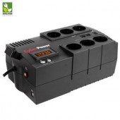 UPS CyberPower BR850ELCD GreenPower UPS 850VA, LCD, 6xSchuko, AVR, RJ45/RJ11, charger for AA/AAA batteries (BR850ELCD)