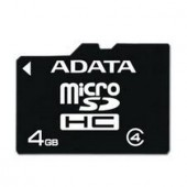 Memorie flash card ADATA AUSDH4GCL4-RA1 4GB Secure Digital microSDHC Class 4