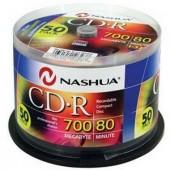 CD-R blank Nashua 700MB-80min-52X, 50 bucăţi (CDR-SP50)