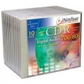 CD-R blank Nashua 700MB-80min-16X Digital Audio  (CDR-Audio10)