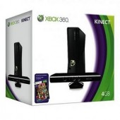 Consola MICROSOFT XBOX 360 Standard System 4GB + Kinect (S4G-00013)
