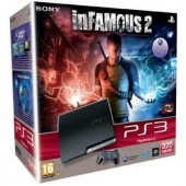 Consola Sony PlayStation 3 Slim 320GB Black + joc Infamous 2 (SO-9100997)