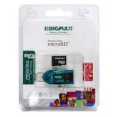 Memorie flash card KINGMAX Micro-SDHC 16GB Class 4 + MicroSD Reader (KM16GMCSDHC4CR)