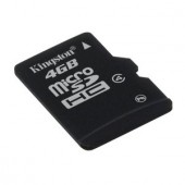 Memorie flash card Kingston SDC4/4GB 4GB microSDHC Class 4