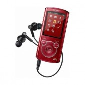 Player MP3 Sony NWZ-E463R, 4GB, video, ecran LED 2inch, roşu (NWZE463R.CEW)