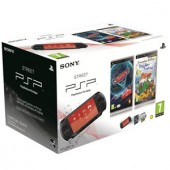 Consola SONY PlayStation Portable Black - Slim PSP Base Pack 1004/EUR + joc CARS 2 + joc GERONIMO (SO-9122720)