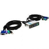 Switch KVM D-LINK Mini Switch cu port USB pentru 2 PC (DKVM-2KU)