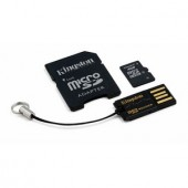 Memorie flash card Kingston MBLY4G2/4GB 4GB Secure Digital microSDHC, Multi Kit, adaptor, reader