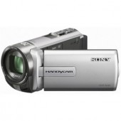Camera video Sony DCR SX45, zoom optic 60x, LCD de 7,5 cm/3 inch, silver (DCRSX45ES.CEN)