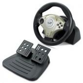 Volan Genius Twin Wheel F1, 8-Way D-pad+4 Buttons, mini, Vibration, PCandPlayStation2  (G-31620029100)