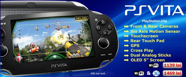 Consola Sony portabila PS VITA WIFI & 3G PCH-1004Z401