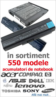 acumulator laptop baterie notebook